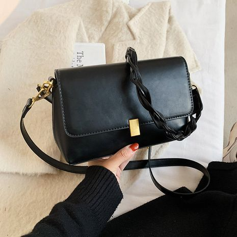 fashion braided one-shoulder messenger small square bag NHJZ279778's discount tags