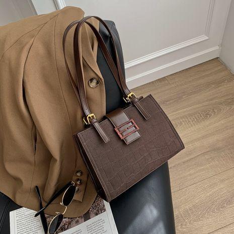 Kleine quadratische Tasche mit Einzelschultersteinmuster der koreanischen Mode NHJZ279786's discount tags