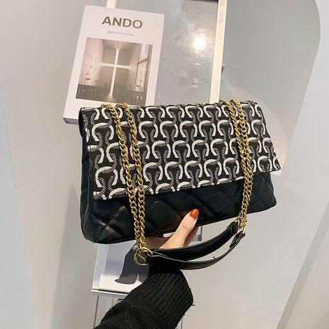 Sac messager à une épaule en denim et perles de mode française NHJZ279823's discount tags