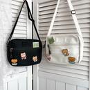 cute cartoon badge canvas shoulder bag NHHX279852