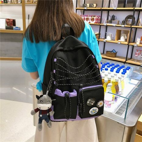 fashion reflective rope badge backpack  NHHX279863's discount tags