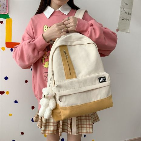 simple casual color matching cute backpack NHHX279873's discount tags
