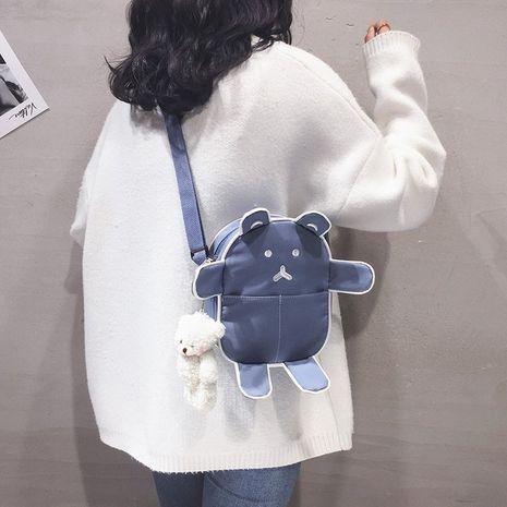 cute cartoon embroidery bear messenger bag  NHHX279883's discount tags