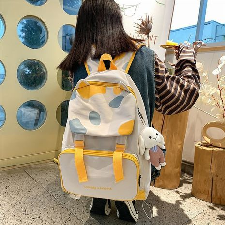cute cartoon hit color cat ears soft backpack NHHX279885's discount tags