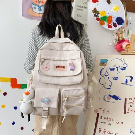 vintage casual large-capacity cute backpack NHHX279889's discount tags