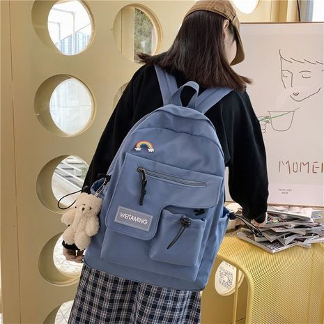 vintage casual backpack NHHX279890's discount tags