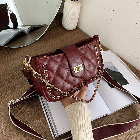 Rhombus-Kettentasche mit großer Kapazität NHJZ279906's discount tags