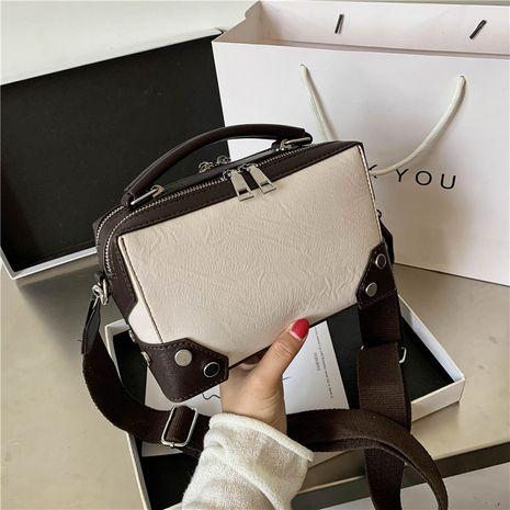 petit sac carré rétro messenger à une épaule NHJZ279938's discount tags