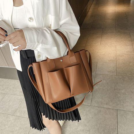 retro large capacity fashion single shoulder tote bag NHJZ279940's discount tags