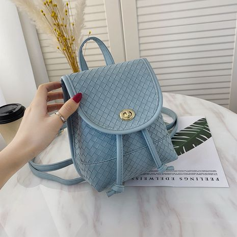 Retro woven pattern simple backpack NHJZ279958's discount tags