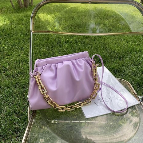 sac aisselle à une épaule en cuir souple NHJZ279985's discount tags