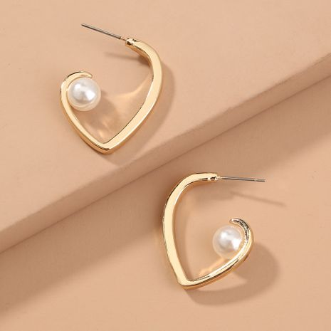 Boucles d'oreilles en forme de coeur en métal NHAN280044's discount tags