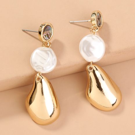 Natural Abalone Long Tassel Pearl Exaggerated Earrings NHAN280045's discount tags
