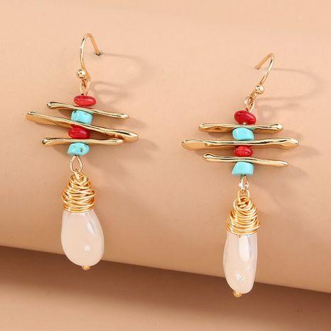 retro fashion irregular long earrings NHAN280046's discount tags