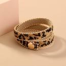 leopard print plush fashion bracelet  NHAN280052