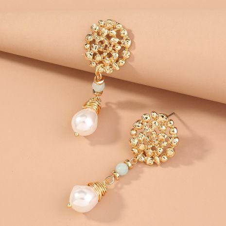 natural stone irregular pearl earrings NHAN280060's discount tags
