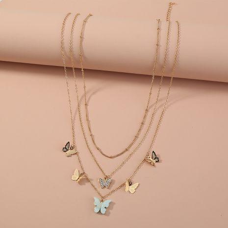 collar de mariposa multicapa vendedor caliente NHAN280088's discount tags