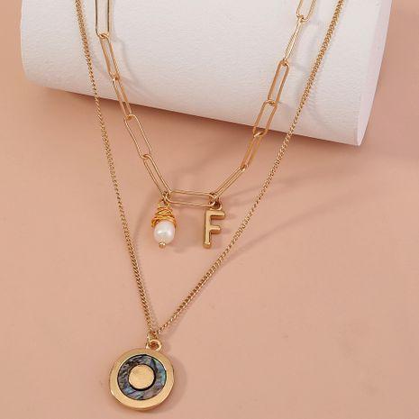 collar de concha de perlas de agua dulce natural vendedor caliente NHAN280096's discount tags
