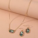 new  Fashion Allmatch Natural Color Abalone Necklace Earring Set NHAN280098