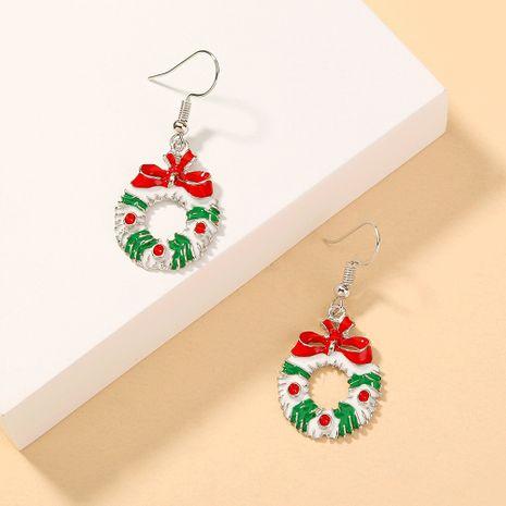 Christmas bow long earrings  NHAN280117's discount tags