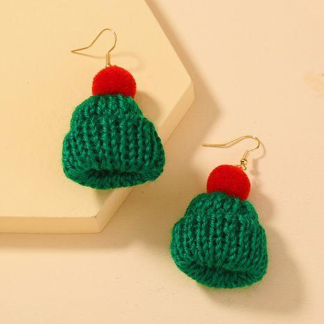 Weihnachtswolle grüner Hut Anhänger Ohrringe NHAN280127's discount tags