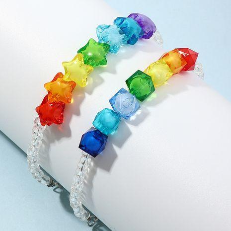 bracelet pour enfants acrylique amour étoile couleur bracelet de perles créatif NHNU280131's discount tags