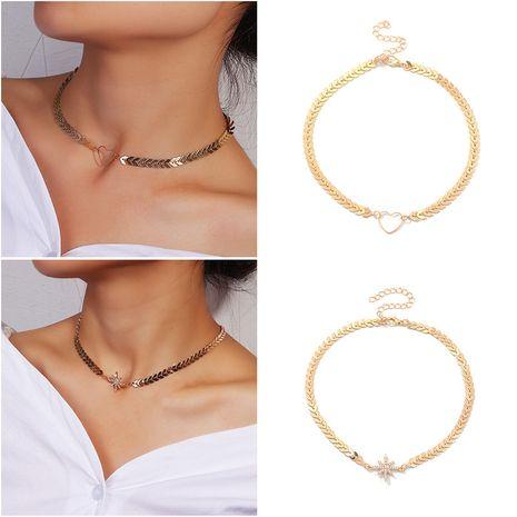 collar de corazón simple estrella de moda creativa NHNZ280136's discount tags