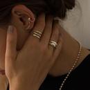retro pearl  geometric irregular  simple ear bone clip  NHYQ280147