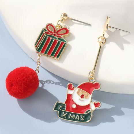 Christmas Series Hair Ball Alloy Santa Claus Earrings NHJE280156's discount tags