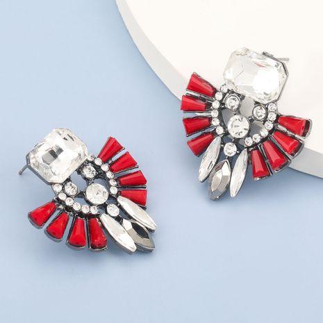 Boucles d'oreilles rétro géométriques acryliques créatives en alliage de verre de diamant NHJE280159's discount tags