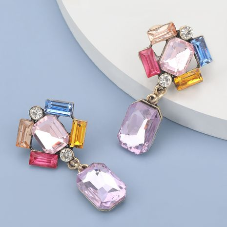 Fashion alloy diamond glass exaggerated earrings NHJE280168's discount tags