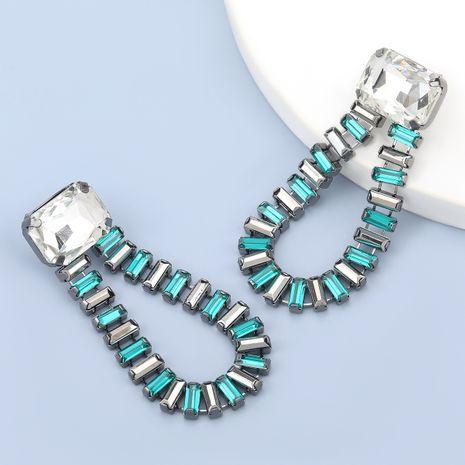boucles d'oreilles géométriques acryliques rétro alliage verre diamant NHJE280170's discount tags