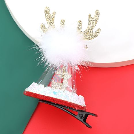 Christmas series flannel antler transparent hat hairpin  NHJE280183's discount tags