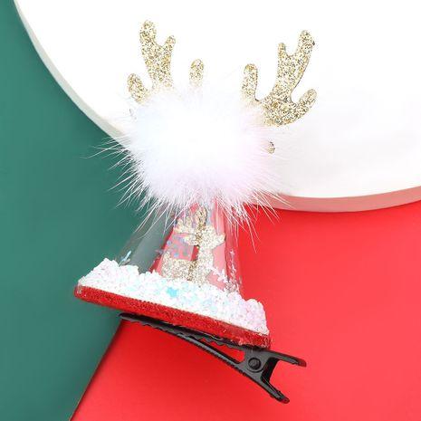 Épingle à cheveux transparente en bois de flanelle Christmas Series NHJE280183's discount tags
