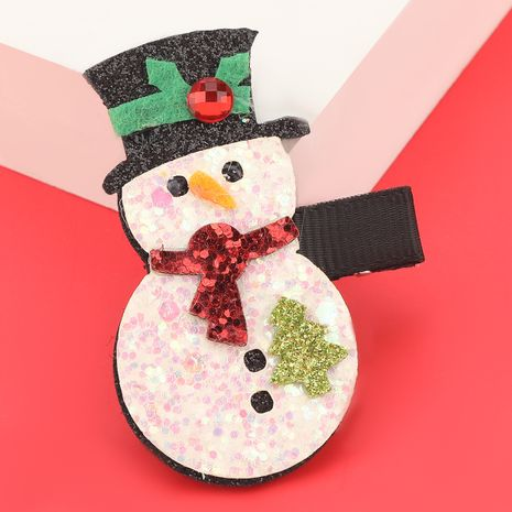 Christmas series flannel snowman hairpin  NHJE280184's discount tags