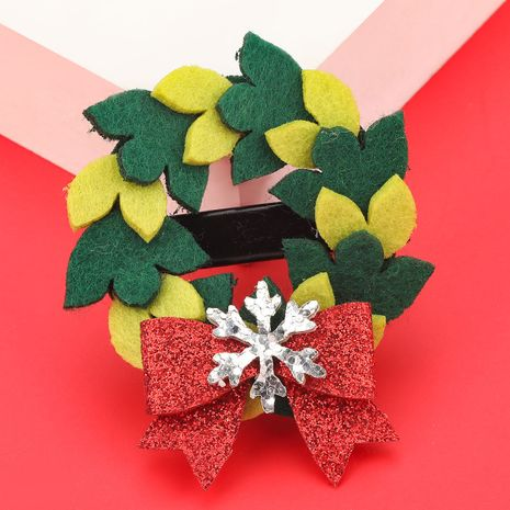 Christmas Series Flannel Garland Bow Hairpin NHJE280191's discount tags