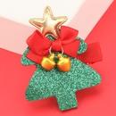 Weihnachtsserie Flanellbaumlegierung Bell Haarnadel NHJE280192