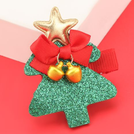 Christmas Series Flannel Tree Alloy Bell Hairpin NHJE280192's discount tags