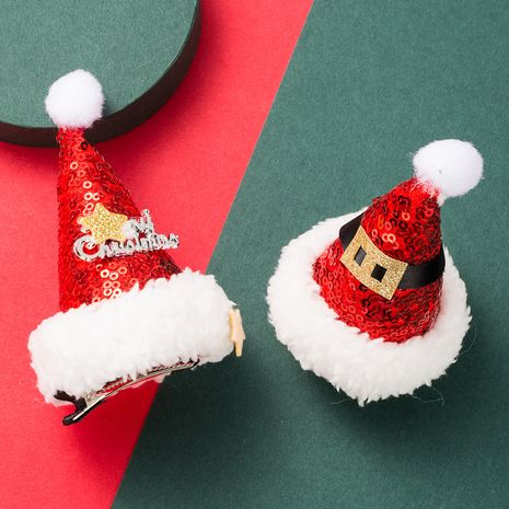 Christmas flannel sequins hat hairpin  NHLN280211's discount tags