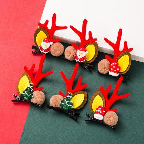 Christmas cute moose horns tree cartoon hair clip NHLN280222's discount tags