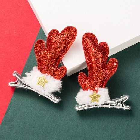 Christmas Series Elk Sequined Hairpin NHLN280231's discount tags