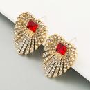 firework alloy diamondstudded S925 silver needle earrings NHLN280235