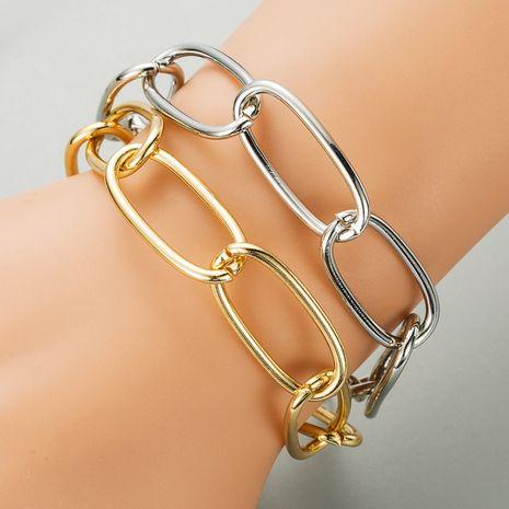 Korea  simple  gold oval chain bracelet NHLN280241's discount tags