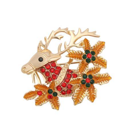 Mikro-eingelegte Farbdiamantbrosche von Christmas Elk NHJQ280281's discount tags