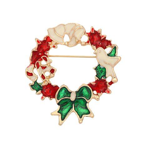 Tropfölbrosche des Weihnachtskranzes NHJQ280285's discount tags