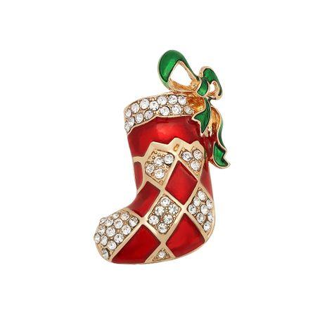 Weihnachtsabzeichen Legierung Diamant handgemachte Öl Tropfen Brosche NHJQ280293's discount tags