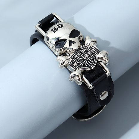 bracelet homme crâne de mode sauvage exagéré NHPS280316's discount tags