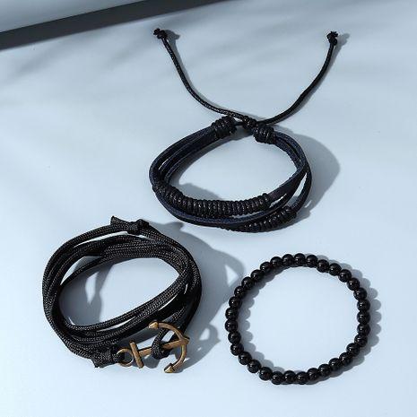 Ensemble de bracelets pour hommes en perles créatives simples tout-match de la mode coréenne NHPS280322's discount tags