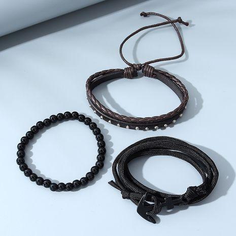 Ensemble de bracelets pour hommes tout-assortis de mode créative coréenne NHPS280325's discount tags