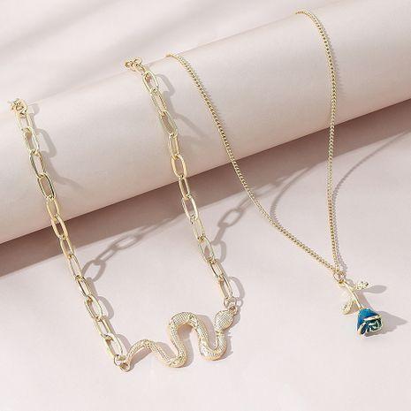 Korean  creative  retro wild personality necklace set NHPS280339's discount tags